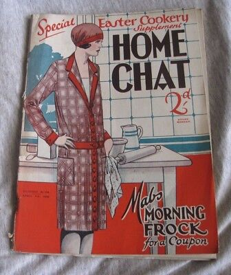 VINTAGE HOME CHAT MAGAZINE  APR. 7th 1928