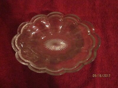 "Pair of Nesting Heisey Cut Crystal Candy Dishes, with star bottoms, distinct ""H"""