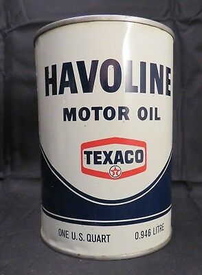Vintage Havoline Motor Oil 1 Quart, Dated 4-71, Unopened