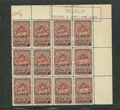 Nicaragua  1959 Consular Revenue Specimen Set Of 16 Stamps Some Of Them With Per