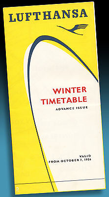 Lufthansa Winter Timetable Flugplan October 1956 Advance Issue > Top