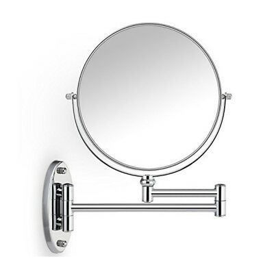 5X/1X Magnification Double-sided Wall Mounted Makeup Mirror Shaving Cosmetic