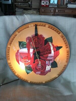 Vintage Four Roses Distillery NYC Whiskey Light-Up Clock