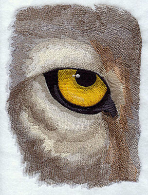 Large Embroidered Zippered Tote - Eye of the Wolf J2237
