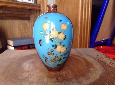 Japanese Cloisonne Vase Could Be Early Namikawa