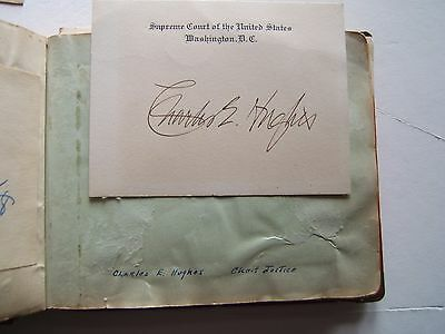 CHARLES E. HUGHES Signed/autograph Supreme Court