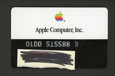 """1980's Unsigned Apple Computer Inc. Monogram Bank Credit Card """" VERY RARE """""""