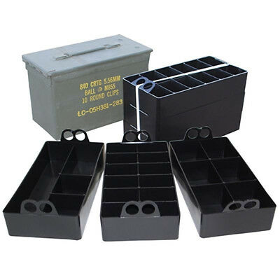 MTM Case-Gard Ammo Can Organizer - Fits all US 50 Cal Cans - 22 Compartments ACO
