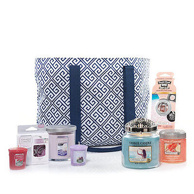 New Yankee Candle 2017 Mother's Day Gift Tote-Greek Design Multiple Fragrances