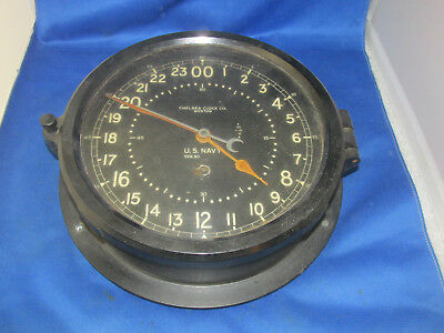 Antique Chelsea Navy Ship's Clock Boston U.S. Navy ship's clock RARE ESTATE FIND
