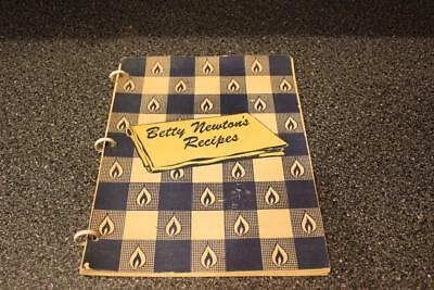 Vintage Betty Newton's Recipes Spiral Cookbook Ohio Fuel Gas Co. + Handwritten