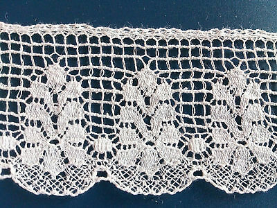 White Pretty Fine Cluny Cotton Lace Edging Dolls Dresses Trim Lingerie Crafting