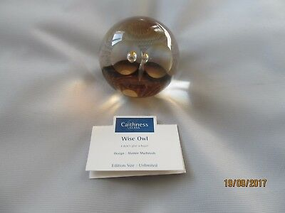 Caithness Wise Owl Paperweight ...Alastair MacIntosh   ..Boxed