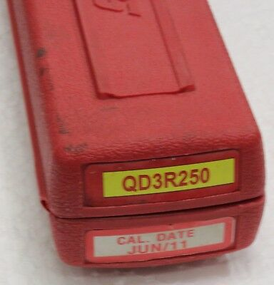 """Snap On Qd3R250 1/2"""" Drive Adjustable Click Type Torque Wrench Used In Case"""