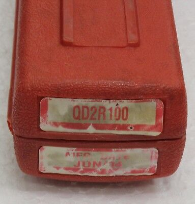 """Snap On Qd2R100 3/8"""" Drive Adjustable Fixed-Ratchet Click Type Torque Wrenchused"""