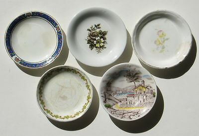 BUTTER PATS Lot 5 Vintage Maddock Staffordshire Ironstone Old Laudscape Johnson