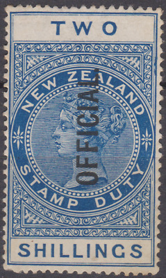 New Zealand 1925 Official Mint Mounted 2/- Blue SG087 Cat £85