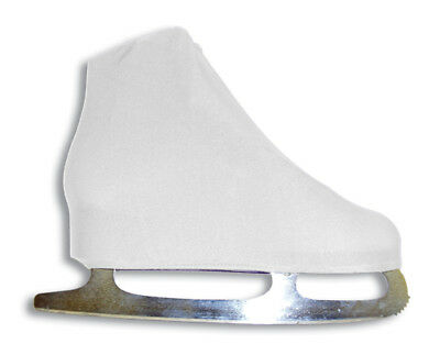 A&R Universal Figure Skate Cover Lycra Stretch Ice Skate Boot Cover White 5 SCW