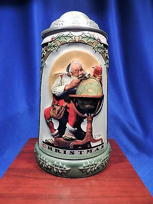 Anheuser Busch Sep Christmas Collection Lidded Stein/norman Rockwell/box