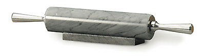 """RSVP 17"""" Grey Marble Rolling Pin W/Marble Stand Base Baking (Damaged Box)"""