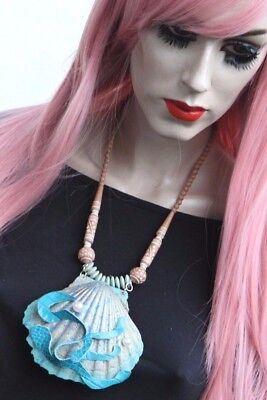 Mermaid Necklace Handmade Bespoke Ariel Sea Shell Halloween Outfit Pastelgoth