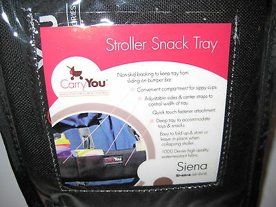NIB ~ Carry You Siena Stroller Snack Tray ~ New