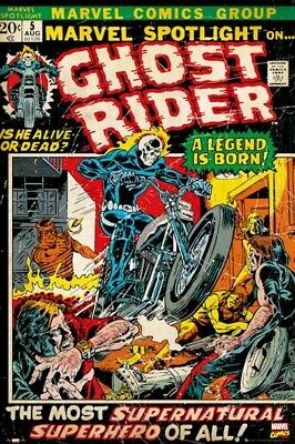 MARVEL SPOTLIGHT #5 ~ GHOST RIDER FIRST APPEARANCE ~ 24x36 COMIC COVER POSTER