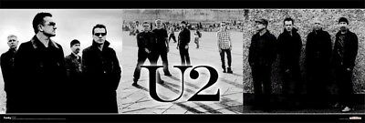 U2 ~ NO LINE ON HORIZON SLIM 12x36 MUSIC POSTER Bono Edge Larry Mullen Adam
