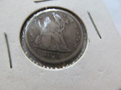 1875 - Cc ( Carson City ) Liberty Seated Twenty Cent Piece Silver Coin