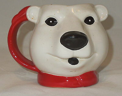 ORIGINAL COCA-COLA FIGURAL POLAR BEAR MUG by DAKIN 1994