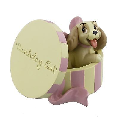 Lady In A Hat Box Birthday Girl Figurine Disney Magical Moments Gift Boxed
