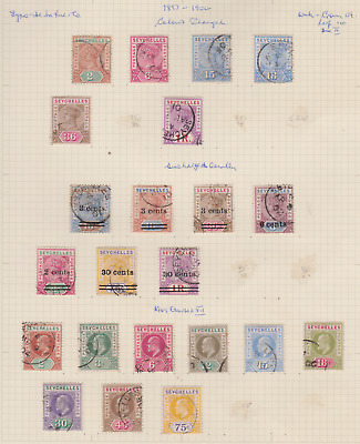 Seychelles 1897/1903 Used Page