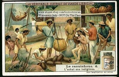 Buying Rubber From Natives c1907 Trade Ad Card
