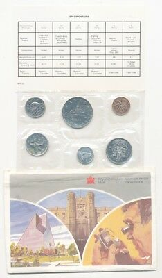 1986 Uncirculated Canadian Mint Set RCM Dollar Voyageur - Free Shipping