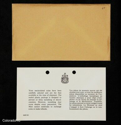 1964 Canada Uncirculated Silver Proof-Like Coin Set in Original Envelope