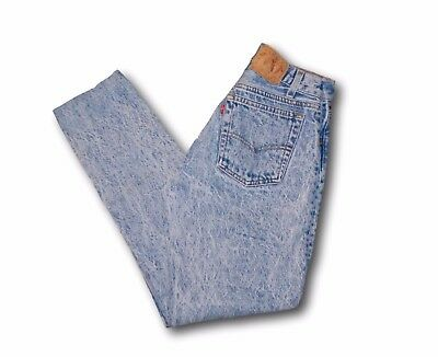 Vintage 80s LEVI'S Strauss Student Fit Stone Wash Button Fly Denim Jeans 28 x 30