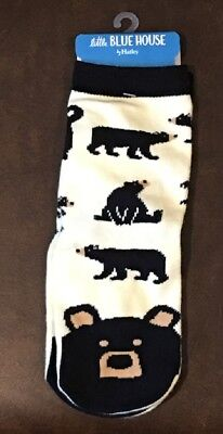 Little Blue House by Hatley Kids Socks Black Bears Size Large Fits Ages 4-7 NWT