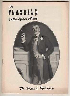 "Walter Pidgeon  ""The Happiest Millionaire""   Playbill   1956   George Grizzard"