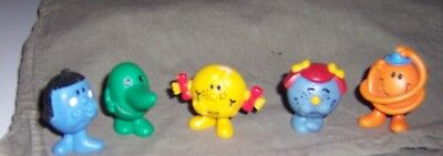 5 Arby's Hargreaves Fast Food Toys Mr. Tickle Little Miss Shy Miss Sunshine +
