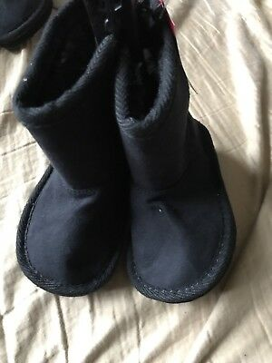 Garanimals Infant Girl's Black Boots Shoes Brown Size 4 NWT Cute