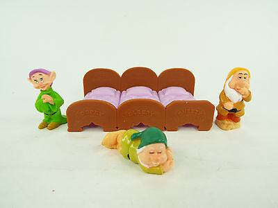 Disney Doll Figures from Snow White and the Seven 7 Dwarfs Bed Cake Toppers Lot