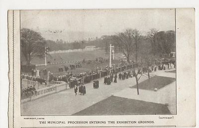 Municipal Procession Entering Exhibition Grounds, Bradford Postcard, B369
