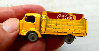 """1960's LESNEY MATCHBOX (ENGLAND) """"DRINK COCA-COLA"""" DIE-CAST DELIVERY TRUCK #37"""
