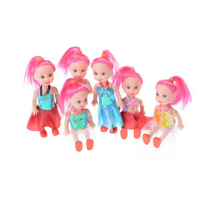 3pcs 3inch Dolls Toys Cute Kelly Dolls With Clothes Kids Gift Home Cake Decor WB