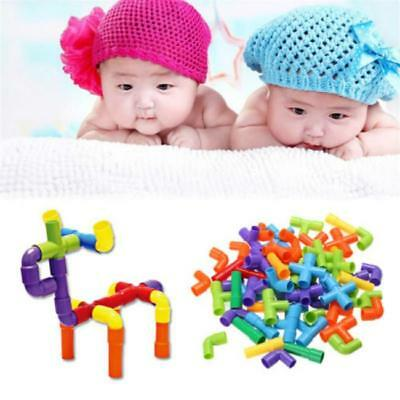 1Set Plastic Toy Pipes Pipeline Changeable Children DIY Game Building Block Q