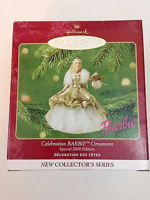 Hallmark 2000 CELEBRATION BARBIE Ornament NIB Special Edition
