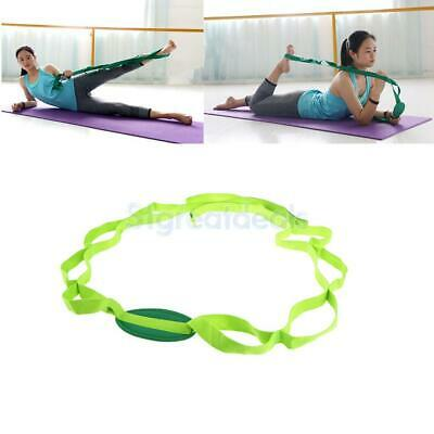 Yoga Stretch Strap Multi-Grip Loops Waist Leg Fitness Exercise Resistance Band