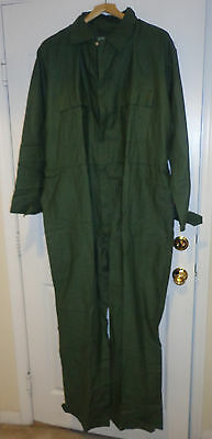 NEW US Military Issue OD Green Coveralls Pockets Point Blank Body Armor XL Mens