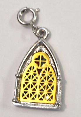 Sarah Coventry 1977 Limited Edition Cathedral Church Stained Glass Window Charm