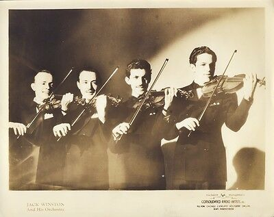 JACK WINSTON and HIS ORCHESTRA BIG BAND c1940 8X10 Publicity Photo
